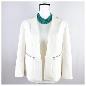 HALOGEN | zip pocket open jacket